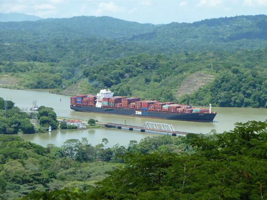 Blick auf den Panama-Kanal bei Gamboa