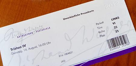 Bayreuther Festspiele Ticket