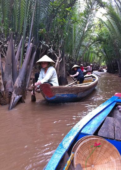 Im Mekong Delta in Vietnam