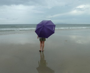 Regen am Strand in Danang.