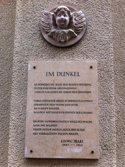 Gedichttafel Georg Trakl
