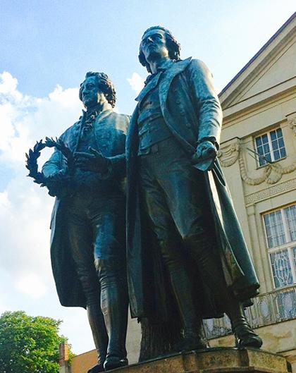 Goethe und Schiller - die großen Dichter in Weimar