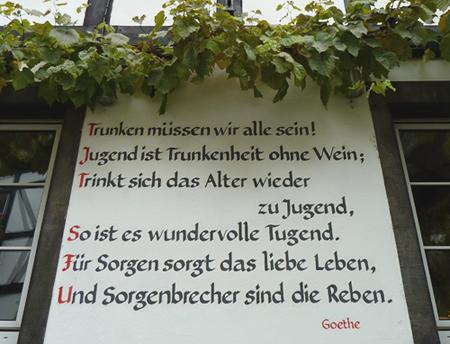 Goethezitat in Winningen