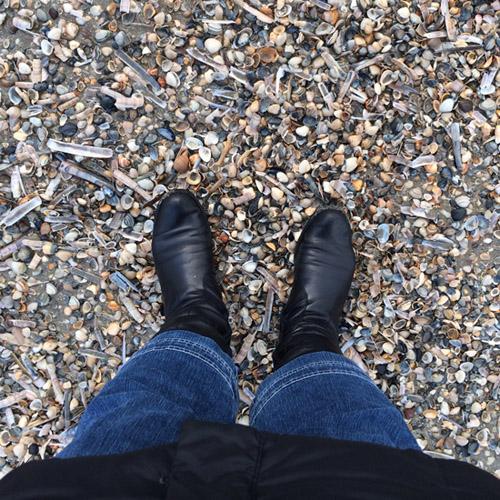 Ich steh am Strand