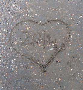 Ein Sandherz am Strand