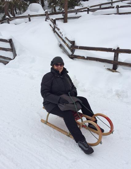 Meike rodelt in Osttirol