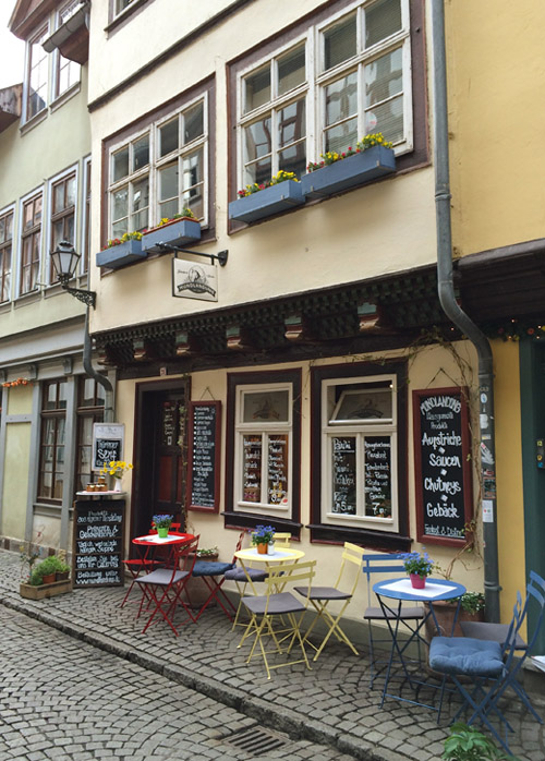 Café Mundlandung auf der Krämerbrücke
