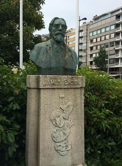 Denkmal für James Ensor in Ostende