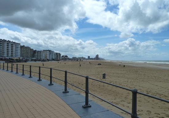 Auf der Promenade in Ostende