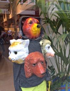 Schaufenster-Dekoration in Ostende