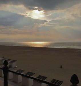 Abendstimmung am Strand in Ostende