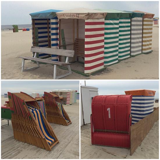 Strandkörbe und Strandzelte