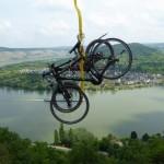 Schwebende Fahrräder