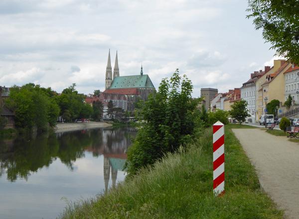 Blick von Zgorzelec auf Görlitz