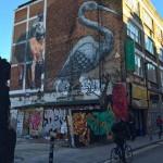 Streetart: Kranich von ROA in London