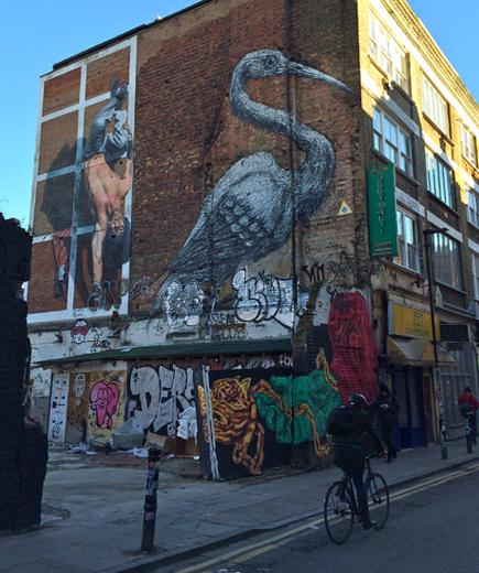 Kranich von ROA, Streetart in London