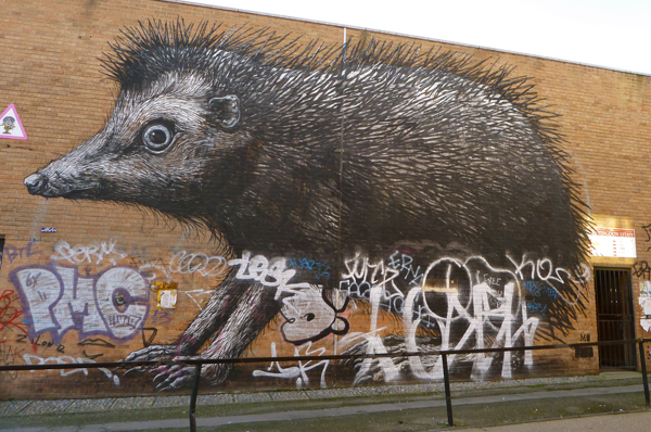 Igel von ROA, Streetart in London