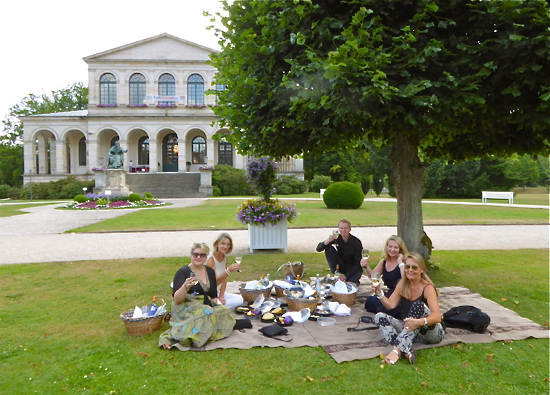 Picknick im Schlosspark von Bad Brückenau