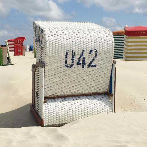 Strandkorb auf Borkum