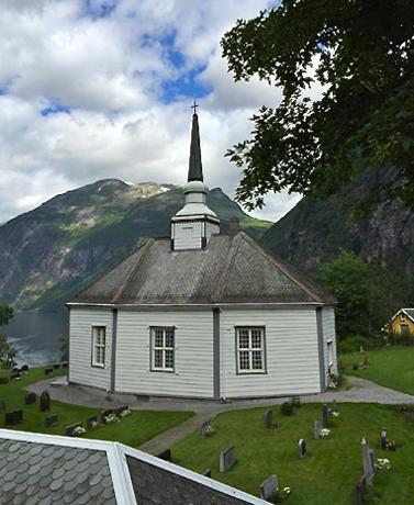 Kirche in Geiranger