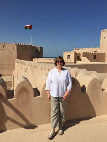 Auf dem Fort von Barka im Oman