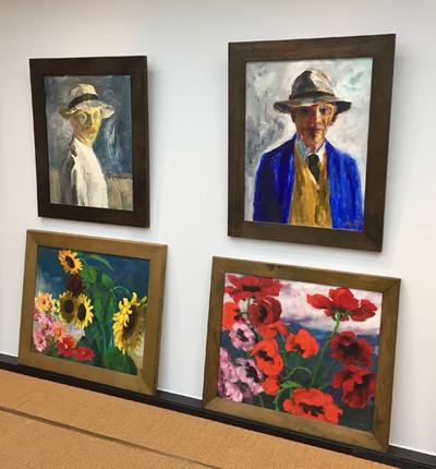 Vier Gemälde von Nolde