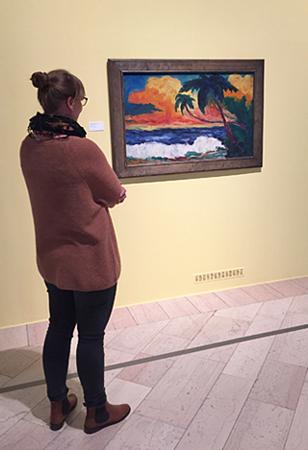 In der Nolde-Ausstellung