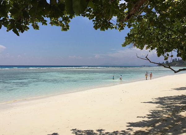 Strand der Anse La Passe