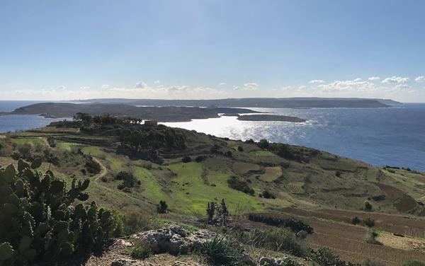 Blick auf Comino und Malta