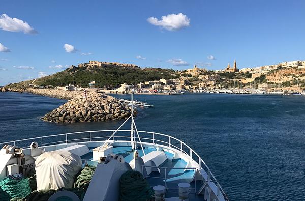 Auf der Fähre von Malta nach Gozo