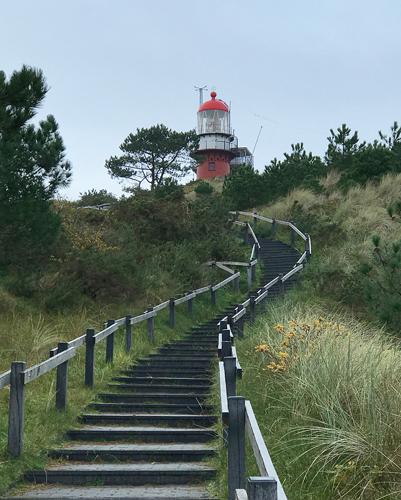 Weg zum Leuchtturm von Vlieland
