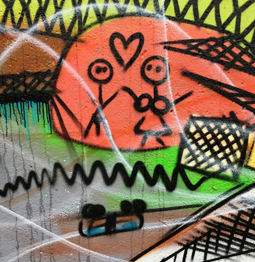 Streetart mit Wupper-Wippchen