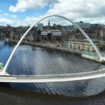 Die Millennium Bridge in Newcastle