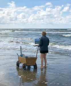 Malerin am Meer