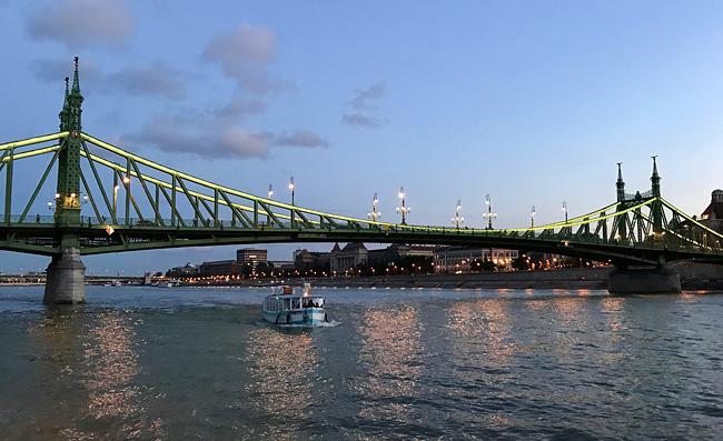 Blick auf die Freiheitsbrücke in Budapest