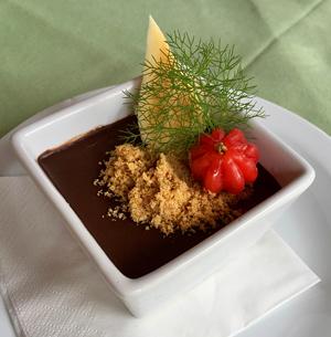 Dessert im Restaurant von Faja dos Padres