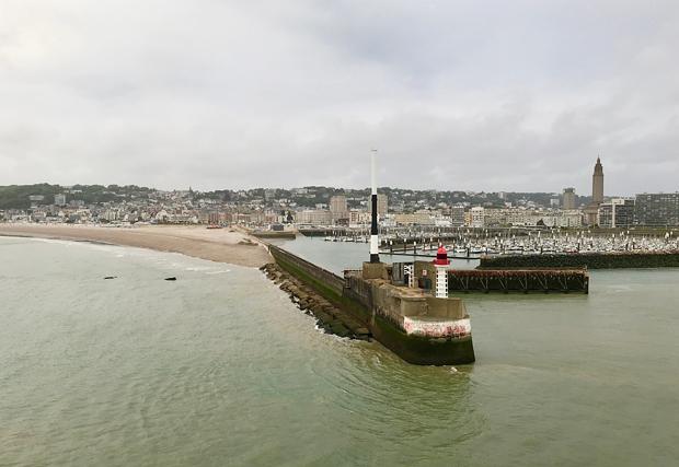 Ausfahrt aus Le Havre