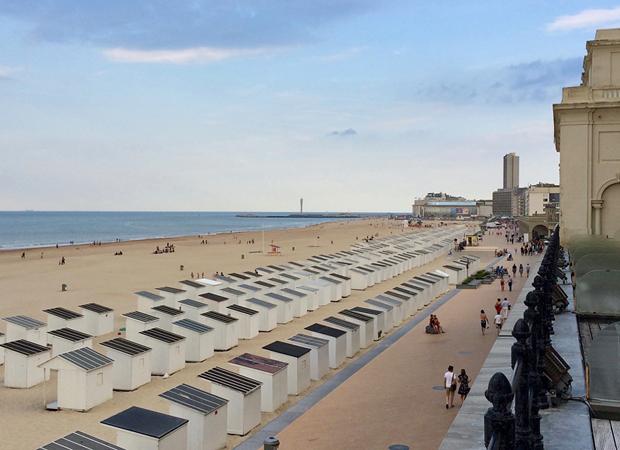 Am Strand von Ostende