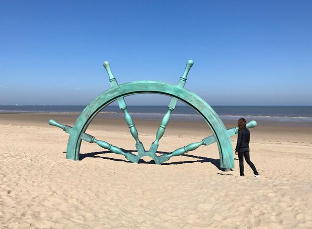 Steuerrad - Kunstwerk der Triennale Beaufort