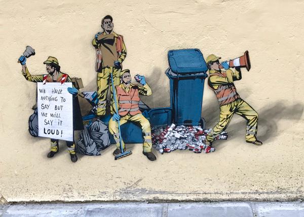 Streetart: Müllmänner