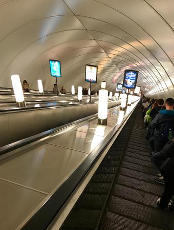 Rolltreppe zur U-Bahn