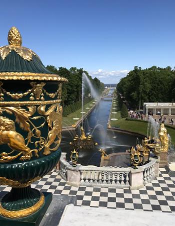 Schloss Peterhof - Blick zur Ostsee