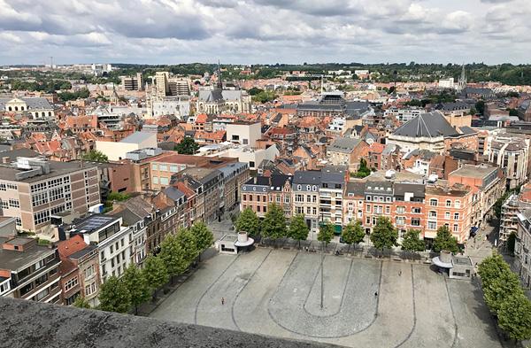 Ausblick vom Turm der Universitätsbibliothek in Leuven