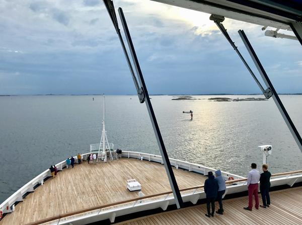 Blick aufs Vordeck der Vasco da Gama