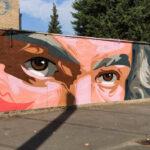 Streetart Beethovens Augen