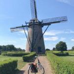 Windmühle mit Fahrrad in Hapert