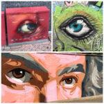 Streetart zeigt drei Augenblicke