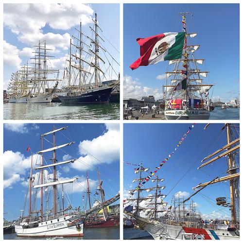 Segelschiffe im Hafen von Scheveningen