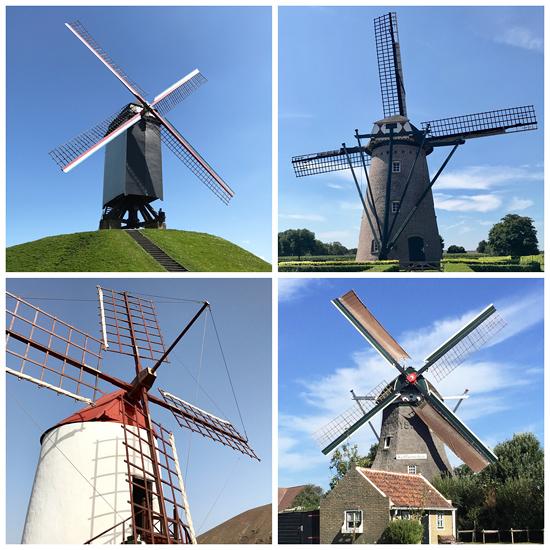 Vier Windmühlen