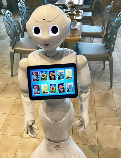 Roboter Pepper auf der Costa Diadema